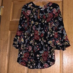 Floral high low top